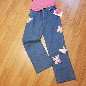 Quacker Factory Butterfly Jeans